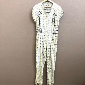 Free People Embroidered Pockets Jumpsuit XS/TP